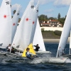 --Local Corona del Mar team leads around the mark